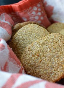 Cheese and seed crackers