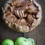 Rustic healthy apple pie