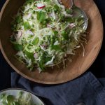 Cabbage, mint pea salad