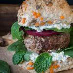 My Moroccan Lamb Burgers with a Mint Feta Dressing is a tasty, easy to make burger. Perfect for a fast lunch or dinner.