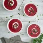 Beetroot Ginger coconut soup
