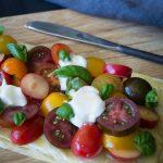 Tomato and plum tart