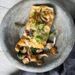 Mushroom omelette wrap