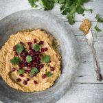 Balsamic hummus - This Balsamic Spiced Hummus with Dukkah recipe is a health twist on the classic. It's a high protein, mineral rich dip and a great source of EFA's.