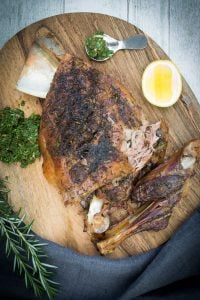 Lamb Shoulder with Mint Chutney
