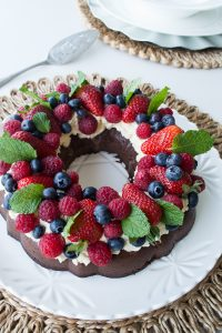 Chocolate Fudge Wreath