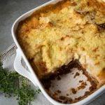 Mushroom Lentil Vegetarian lasagne