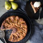 Healthy yoghurt cake - This yoghurt cake has long been a go-to cake of mine, I've always loved the nice moist crumb it produces. It can be varied to so many flavours too. This is a Pear and Ginger Cake.