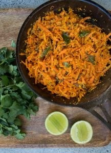 This zesty Spiced Carrot and Coconut Salad is a perfect side for any curry or spicy meal. Best of all it's quick, easy make and really delicious.