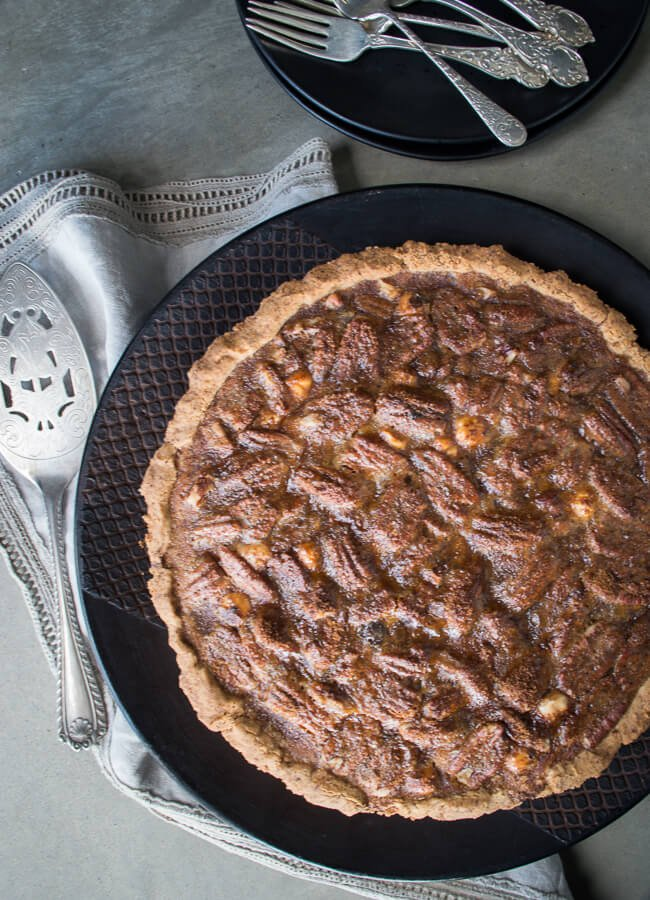 Well nourished simple recipes whole foods inspired health sticky pecan and hazelnut tart forumfinder Images