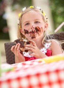 Move away from the junk food - what to do when your kids gorge them selves on junk food at parties. Tips for raising healthy kids.