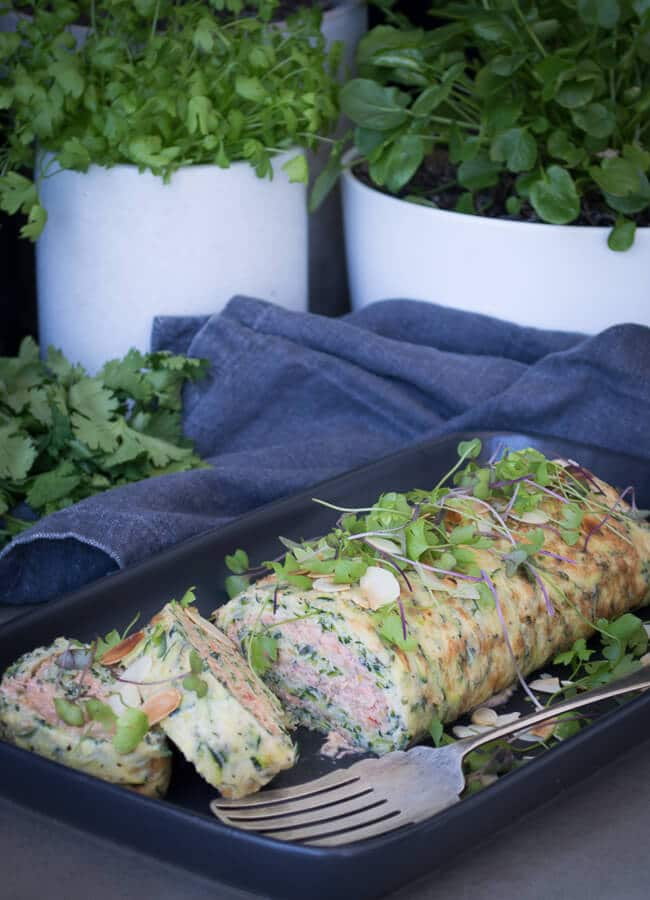 This healthy Smoked Salmon Roulade is a divine starter or entree. It's perfect for a celebration or special occasion & is quite simple to make. Gluten-free.