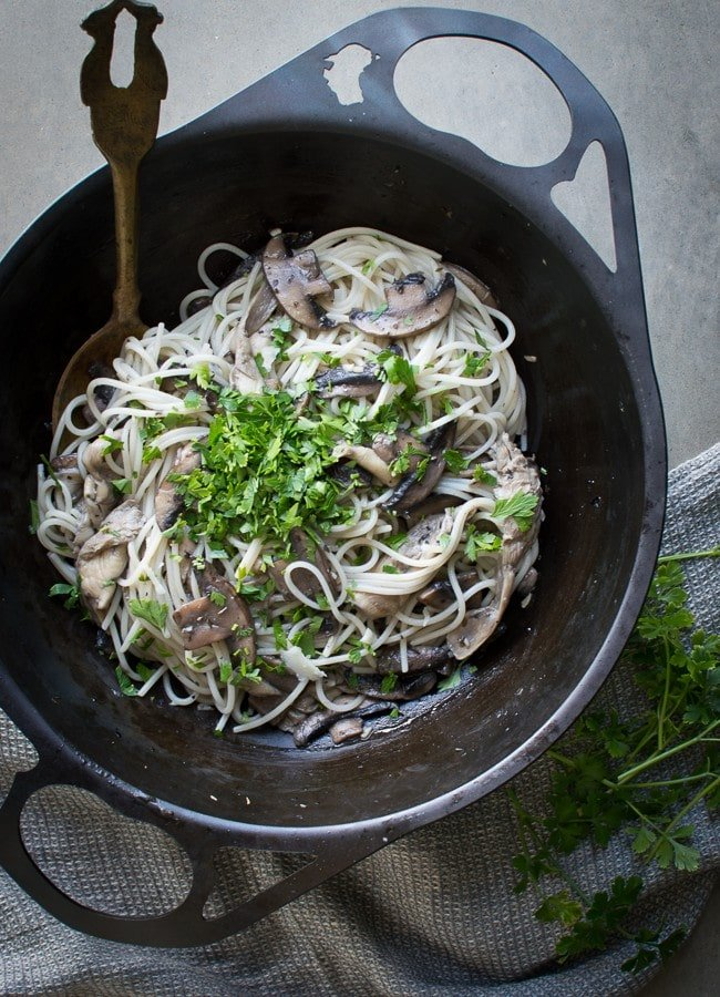 This Mushroom Thyme Pasta is one of my favourite vegetarian mid-week meals. It's quick and easy to make and really tasty.