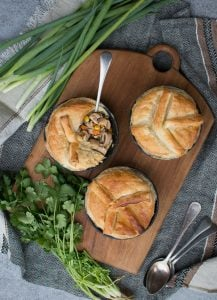 This Chicken Shiitake Mushroom Pie is a delicious combination of protein, shiitake, vegetables and warming spices and a great immune supportive winter meal.