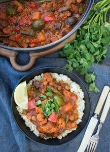 This Chickpea Vegetable Tagine is one very nourishing pot of plant powered goodness. A simple (just 30 mins of preparation) delicious, rich and hearty stew.