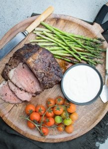 This Beef Fillet with Garlic Tahini Sauce is so quick and easy to make and is one of the most delicious ways to eat beef. It's the perfect entertainer too.