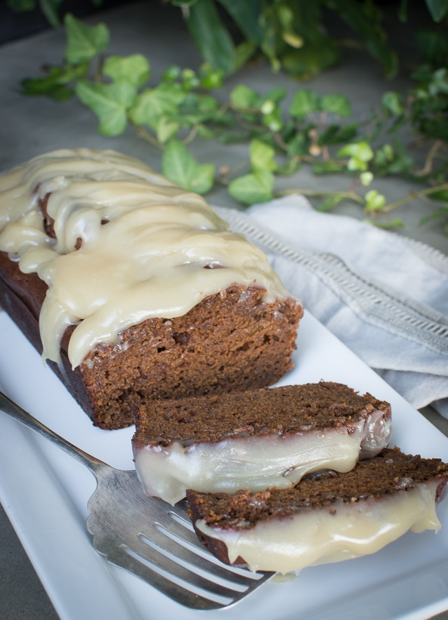 This Sticky Gingerbread Loaf with Caramel Drizzle is a healthy and low sugar, wholegrain version of the classic catering to various dietary goals.