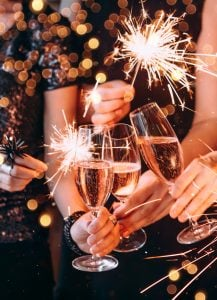 New Years Event Party event plan includes all of the steps you need to prepare your feast, including a menu and shopping list.
