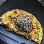 This delicious Mushroom, Kale & Basil Omelette is a quick and healthy meal! Great as a filling breakfast or for a lighter lunch and dinner.