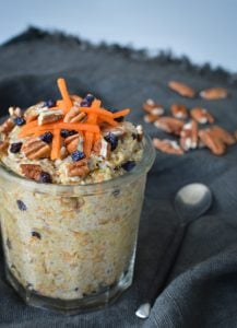 This Carrot Cake Chia Pudding is an easy and healthy recipe that tastes just like a carrot cake!  It's easy to put together for a breakfast, dessert or snack