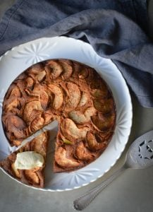 This Apple Tea Cake is my low sugar, wholegrain version of my nan's Apple Tea Cake. Quick and easy to make and delicious.