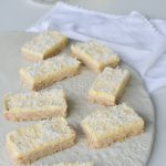 This zest Lemon Coconut Slice is a delicious, very easy to make, low sugar lunchbox treat or snack. Sure to become a favourite.