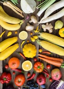 Aiming to 'eat a rainbow' of fruit and vegetables every day encourages variety in your diet, and is a fun challenge!