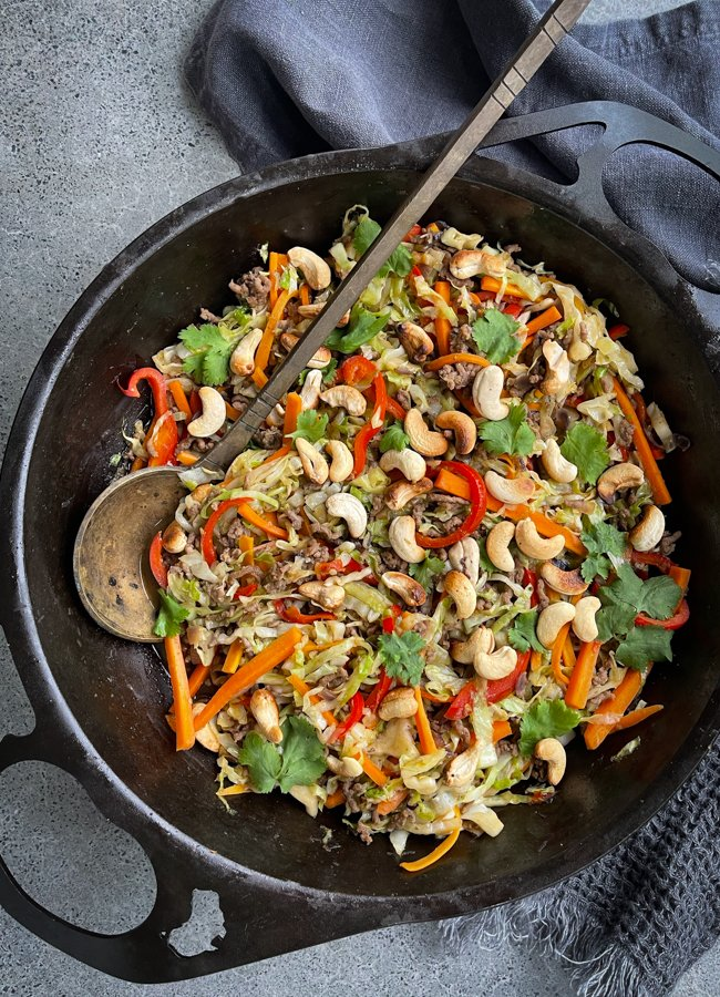 This Easy Beef Cabbage Stir Fry is a really quick and easy budget friendly stir fry and another favourite way to use beef mince!