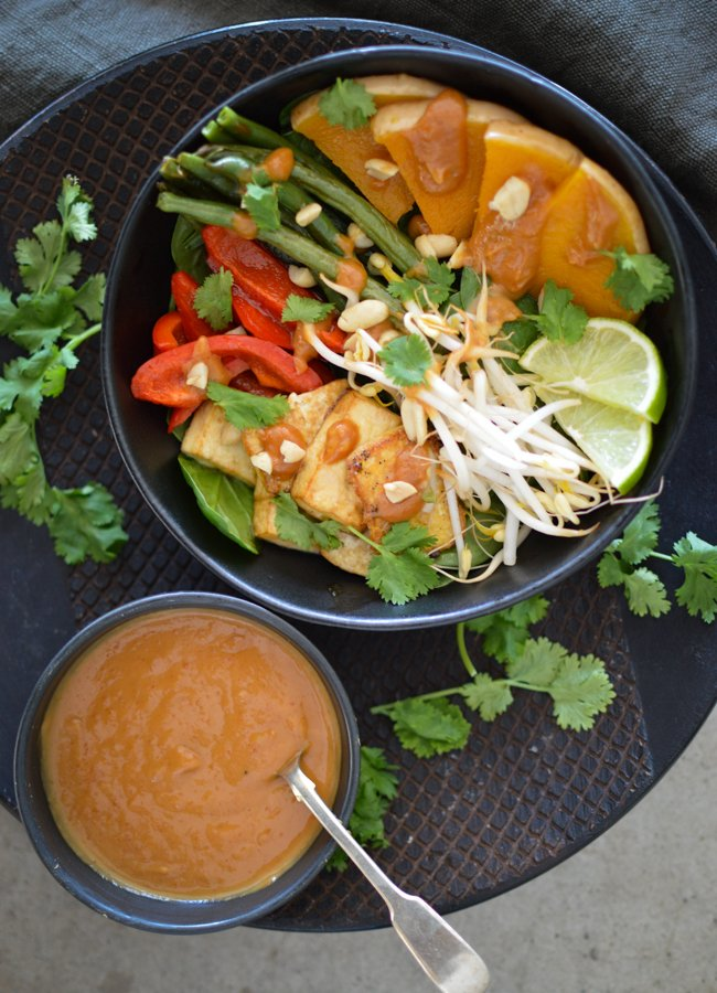 If you love a good Gado Gado! The flavours in this Tofu Gado Gado Salad are just divine. Best of all it's super quick and easy to make too.